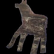Vintage Large Sheet Tin Metal Folk Art Horse