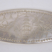 Chinese Carved Mother of Pearl Game Counter
