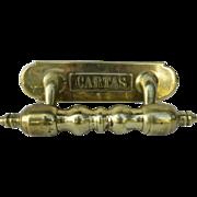 Brass 19th Century Door Pull Letter Slot Cartas