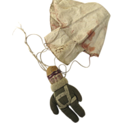 WWII Era U.S. Parachute Trooper Doll Raggy Doodle