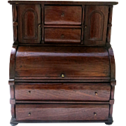 Miniature Roll Top Desk 1820