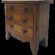 English Mahogany Miniature Chest of Drawers c 1820