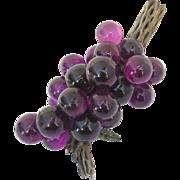 Vintage 1960's Lucite Purple Grape Cluster