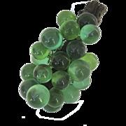 Vintage 1960's Lucite Green Grape Cluster