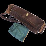 Vintage 1950's Leather Golf Bag Hillerich & Bradsby Tags Noble Chalfant L. J. Dutch McClellan