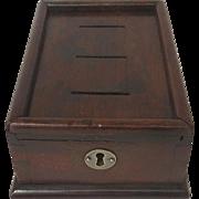 English Mahogany Money Box