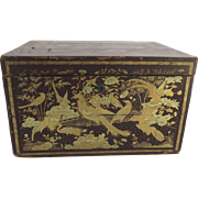 Large Chinese Export Chinoiserie Decorated Box