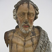 18th century French Carved and Painted of Saint John the Baptist