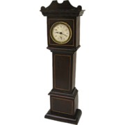 Miniature Waterbury Inlaid Grandfather Clock