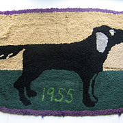 Delightful Hooked Retriever Bird Dog Rug