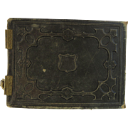 SOLD Victorian Leather Photo Album  New York Family As Is Restoration Study