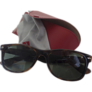 SOLD Vintage Rayban Wayfarers 2132 55mm Tortoise Polarized Sunglasses Red Case Excellent