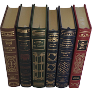 SALE Six (6) Vintage Leather Gilt Tooled Books Franklin Library 1980's