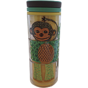 New Never Used Starbucks 2009 Insulated Children's Kid's Mug Cup Puzzle Monkey Peacock ...
