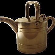 SOLD English Brass Barrel Watering Can by J. S & S Joseph Sankey & Sons Ltd c 1910