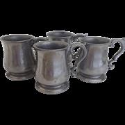 SOLD Vintage Set of Four (4) Armetale Beer Mug Noggin Un-used