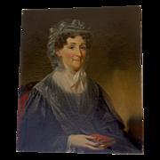 Oil on Canvas Portrait of Elizabeth Boulter Stokes (Mrs. James)