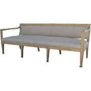 Painted Swedish Banquette Settee