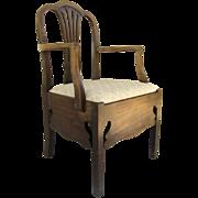 English Mahogany Hepplewhite Commode Chair