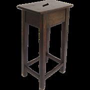 English 19th Century Walnut  Tall Clerk's Stool