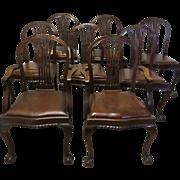 Set of 8 Hepplewhite Mahogany Dining Chairs