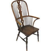 English High Back Windsor Arm Chair