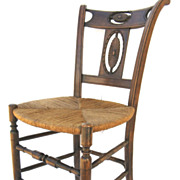 French Directoire  Carved Back Chair
