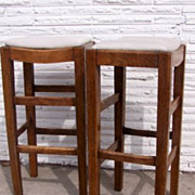 Pair of English Elm Clerks Stools