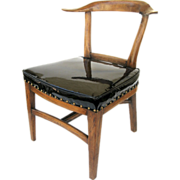 SOLD Mid Century Deep Seat Yoke Back Chair