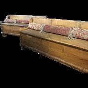 Very Long Pine European Lift Seat Bench