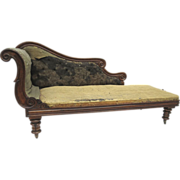 English Rosewood  Chaise Longue c 1840