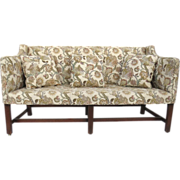 English Country Chippendale Upholstered Settee C 1800