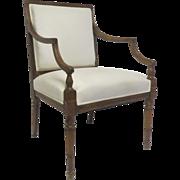 English Sheraton Arm Chair.