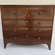 English Mahogany Secretaire Drawer Chest of Drawers Desk