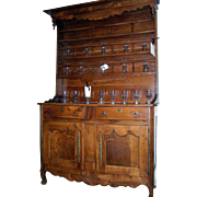 French Elm Vaisselier Cupboard Dresser Cabinet 19th Century