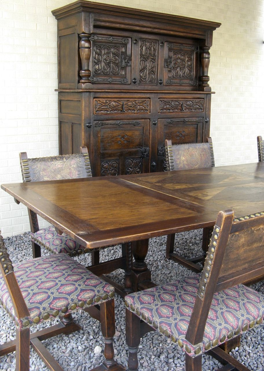 medieval dining room sets   French Gothic Dining Room Set from blacktulip on Ruby Lane