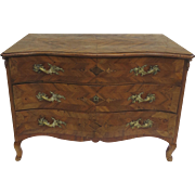 Italain 18th Century Commode with Inlaid and Marquetry