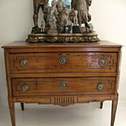 Italian Two Drawer Commode Fruitwood 18th