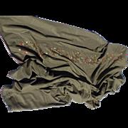 SOLD Vintage Ralph Lauren Blue Label Wool Embroidered Coverlet Quilt Blanket Bed Spread Strawb