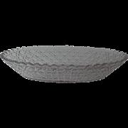 American Brilliant Cut Glass Oval Bowl Harvard Pattern