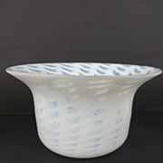 White and Clear  Opaline Swirl Finger Bowls French 1830's