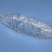 American Cut Glass Brilliant Celery Bowl Dish 1900