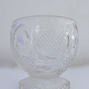 Small Press Glass Punch Bowl