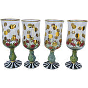Vintage MacKenzie Child's Glasses set of Four