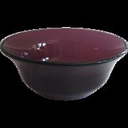 Victorian Amethyst Glass Bowl c 1880