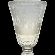 Vintage Tall European Etched Cut Goblet