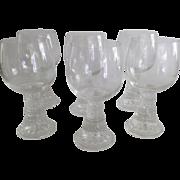 Set of Six (6) Mid Century Wine Glasses Finland Scandinavian