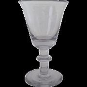 19th Century Blown Glass Dram Wine Sherry Glass