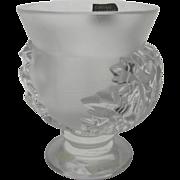 Lalique St. Cloud Vase 1960's Never Used Original Labels