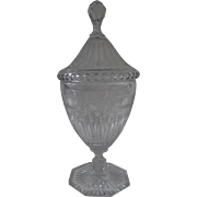 Georgian Anglo Irish Crystal Chestnut Urn with Cover